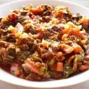 Snijbiet met tomaten en kruiden